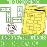 Long O Dominoes with Recording Sheet (oe, o_e, oa, ow)