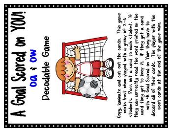 Long O {oa & ow} Decodable Word Game