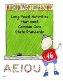 Long Vowel Activities that Meet Common Core State Standards