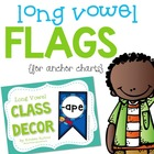 Long Vowel Word Family Classroom Flags