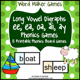 Long Vowel Digraphs Phonics Games ee ea oa ai ay