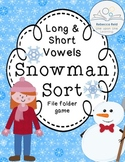 Long and Short Vowels Snowman Sort (File Folder Game)