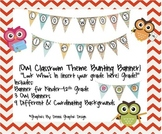 Look Whoo's In...{owl bunting banner}