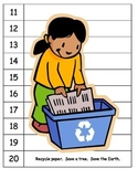 Lorax Skip counting Earth Day Recycle number puzzles ESL S