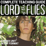 Lord of the Flies Literature Guide - Lesson, Activity and