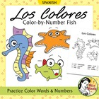 Los Colores - Spanish Colors Color by Number Worksheets /