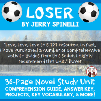 Loser Comprehension Novel Activity Guide