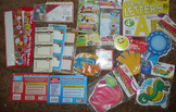 Lot of Bulletin Board cutouts, letters, nameplates, nameta
