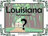 Louisiana: Did You Know? Social Studies Task Cards Grades 2 - 4