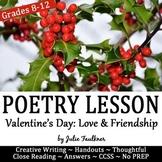 Valentine's Day for Secondary ELA Poetry Close Reading Les