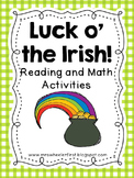 Luck o' the Irish St. Patrick's Day Math and Literacy Centers