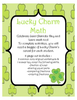 Lucky Charm Fractions - Saint Patrick's Day Math