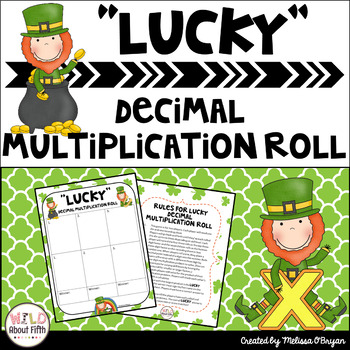 Lucky Leprechaun St. Patrick's Day Decimal Multiplication Roll FREEBIE