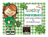 Lucky Printables  Quick Print Activities for St. Patrick's