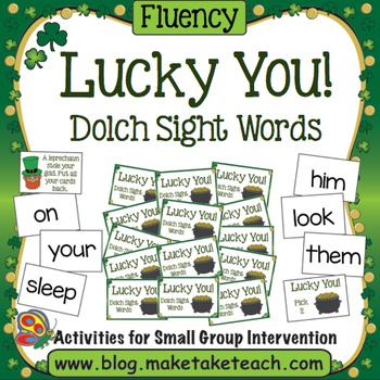 Sight Words- Dolch - Lucky You! A St. Patrick's Day Game