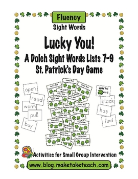 Lucky You! Dolch Sight Words Lists 7-9
