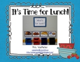 """Lunch Pictures (Choices) """"What's for Lunch?"""""""