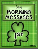 Morning Work-1st-March, St. Patrick's Day