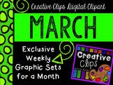 MARCH 2015 Graphics Club {Creative Clips Digital Clipart}
