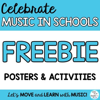 MARCH IS MUSIC IN OUR SCHOOLS MONTH *POSTERS *WRITING PRIN