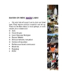 MATH : IDEAS for Hands-On Mini Activities in Middle School!