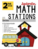 MATH STATION - Common Core - Grade 2 -SEPTEMBER