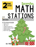 MATH STATIONS - Common Core - Grade 2 - DECEMBER