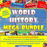 MEGA BUNDLE for World History (1-year curriculum)–SAVE $$$