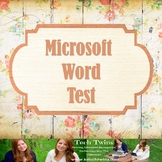 MICROSOFT WORD TEST & Online Review Game - Instructional V