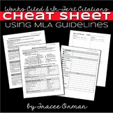 MLA Citations - Works Cited Cheat Sheet for Students Resea