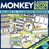 MONKEYS Classroom Theme EDITABLE Decor-34 Printable Produc