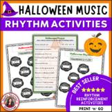 RHYTHM: Halloween Rhythm Activities