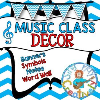 MUSIC DECOR *Posters *Bulletin Board *Banner *Classroom *E