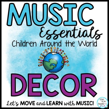 MUSIC ROOM DECOR *Around the World Theme *Bulletin Board *