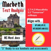 Macbeth Paragraph Writing/Analysis/NYS Regents Prep (Quest