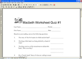 Macbeth Study Guides Test Exam Shakespeare