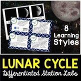Lunar Cycle and Moon Phases - Differentiated Science Station Labs