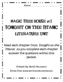 Magic Tree House #17 Tonight on the Titanic Literature Unit