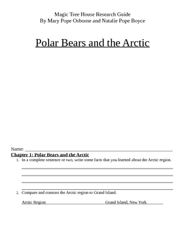 Magic Tree House Research Guide: Polar Bears