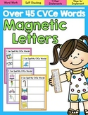 Magnetic Letters Word Work- CVCe Words