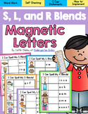 Magnetic Letters Word Work- S, L , and R Blends
