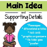 Main Idea and Details {Leveled Activities}