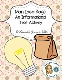 Main Idea Bags: A Common Core Literacy Activity