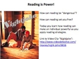 Main Idea Tutorial:  Reading is Power!  The Slave Codes, a