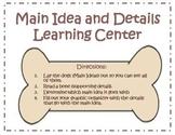 Main Idea and Details Center - Dog theme