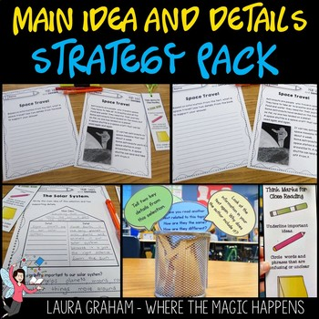Main Idea and Details Close Reading Strategy Pack