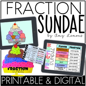Make A Fraction Sundae