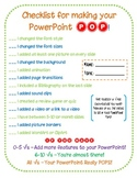 Make Your PowerPoint Pop! {checklist for students}