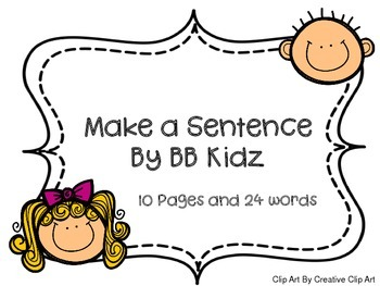 Make a Sentence Correctly with Sight Words for Kindergarte