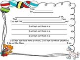 Make your own poem/ELA activity